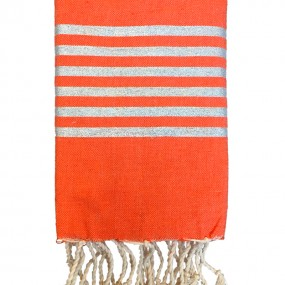 fouta-lurex-orange-personnalisable