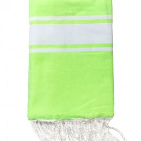 fouta-jaune-fluo-personnalisee