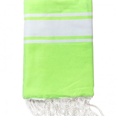 FOUTA PLATE PERSONNALISABLE - JAUNE FLUO