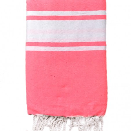 FOUTA PLATE PERSONNALISABLE - ROSE FLUO