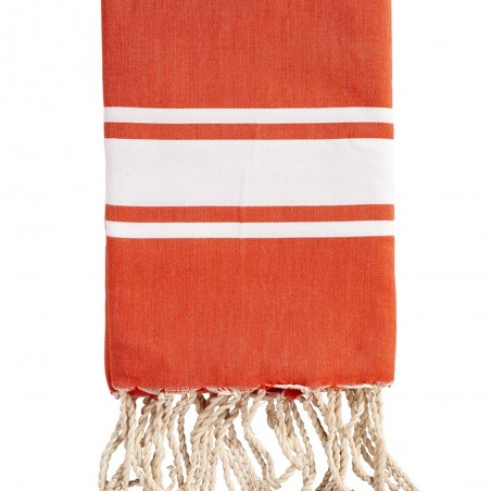 FOUTA PLATE PERSONNALISABLE - ORANGE