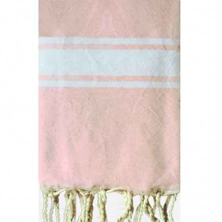FOUTA PLATE PERSONNALISABLE - ROSE PALE