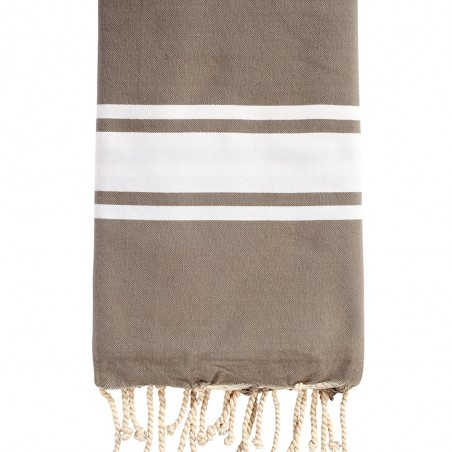 FOUTA PLATE PERSONNALISABLE - TAUPE