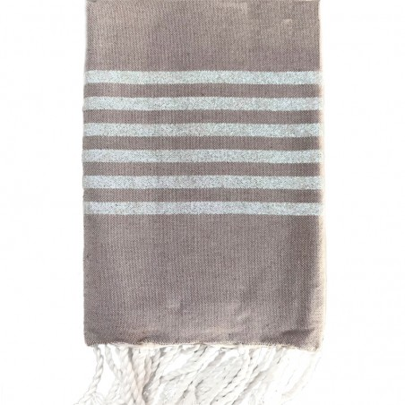 FOUTA LUREX PERSONNALISABLE - TAUPE