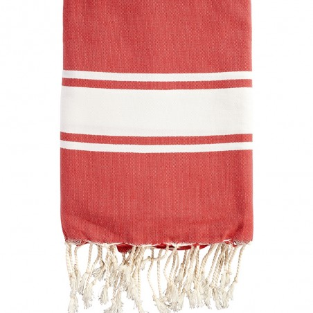 FOUTA PLATE PERSONNALISABLE - ROUGE