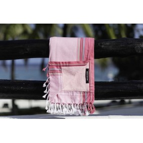 serviette-plage-rose