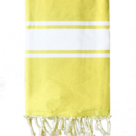 FOUTA PLATE PERSONNALISABLE - JAUNE