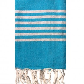 fouta-lurex-argent-turquoise-personnalisable