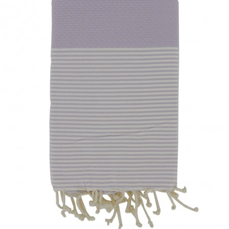 FOUTA NID D'ABEILLE RAYE PERSONNALISABLE - PARME