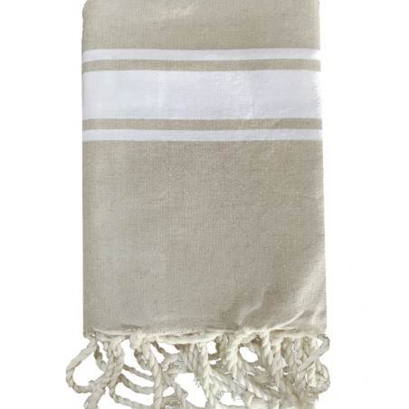 FOUTA PLATE PERSONNALISABLE - BEIGE