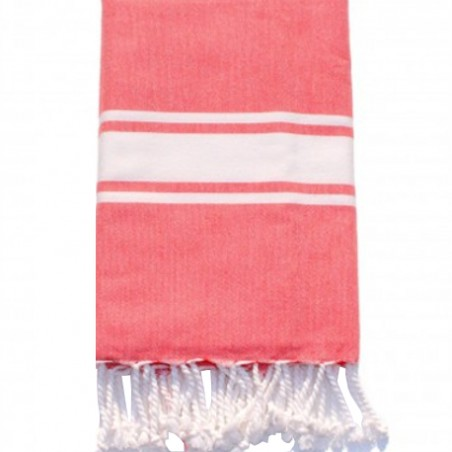 FOUTA PLATE PERSONNALISABLE - CORAIL